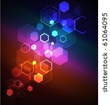 glowing  abstract background... | Shutterstock .eps vector #61064095