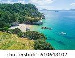 aerial of te whanganui a hei ... | Shutterstock . vector #610643102