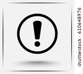 warning attention with... | Shutterstock .eps vector #610648976
