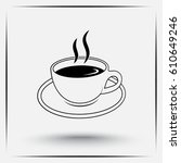 coffee cup sign icon  vector... | Shutterstock .eps vector #610649246