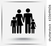 family sign icon  vector... | Shutterstock .eps vector #610649606