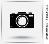 photo camera sign icon  vector... | Shutterstock .eps vector #610650818