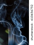 abstract white smoke on black... | Shutterstock . vector #610656752