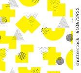 vector geometric seamless... | Shutterstock .eps vector #610672922
