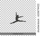 ballet dancer icon. | Shutterstock .eps vector #610674422