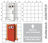 copy the picture using grid... | Shutterstock .eps vector #610674515