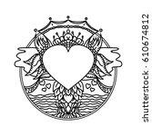 vector ornamental ethnic art.... | Shutterstock .eps vector #610674812