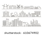 vector city  town and... | Shutterstock .eps vector #610674902