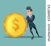 businessman with money. man... | Shutterstock .eps vector #610688762