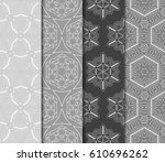 set of 4 seamless vector... | Shutterstock .eps vector #610696262