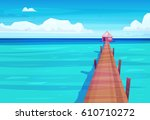 holidays by the sea.... | Shutterstock .eps vector #610710272