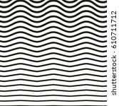 black and white striped lines.... | Shutterstock .eps vector #610711712