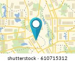 map. the concept of navigation. ... | Shutterstock .eps vector #610715312