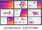 big infographics in modern... | Shutterstock .eps vector #610727588