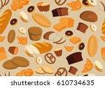 seamless pattern background... | Shutterstock . vector #610734635