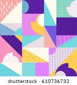 abstract multicolored geometric ... | Shutterstock .eps vector #610736732