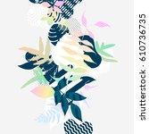 abstract  botanic background | Shutterstock .eps vector #610736735