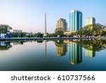 yangon  myanmar   feb 14  2017  ... | Shutterstock . vector #610737566