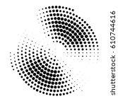 Abstract Halftone Circle...