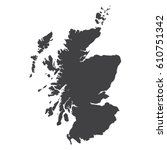 scotland map in black on a...