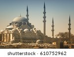 suleymaniye mosque  istanbul ... | Shutterstock . vector #610752962
