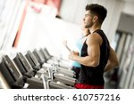 side view full length of young... | Shutterstock . vector #610757216