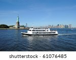 A Ferry Heading Away From The...