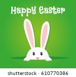 easter rabbit  easter bunny | Shutterstock .eps vector #610770386