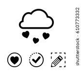 from the cloud falling hearts... | Shutterstock .eps vector #610773332