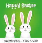easter rabbit  easter bunny | Shutterstock .eps vector #610777232