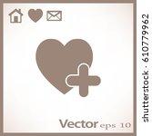 flat heart icon. | Shutterstock .eps vector #610779962