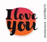 vector hand drawn sticker round ... | Shutterstock .eps vector #610788272