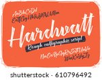 rough version of calligraphic... | Shutterstock .eps vector #610796492