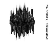 dark city concept   3d... | Shutterstock . vector #610803752