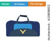 cricket bag icon. flat design....