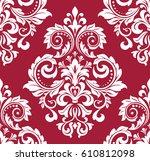 floral pattern. wallpaper... | Shutterstock . vector #610812098