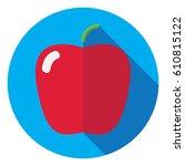 apple icon in flat design | Shutterstock .eps vector #610815122