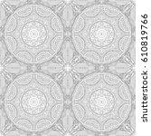 seamless floral pattern motif... | Shutterstock .eps vector #610819766