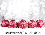 Christmas Balls On Abstract...