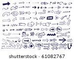 arrow doodles | Shutterstock .eps vector #61082767