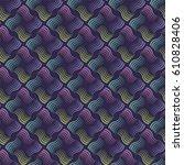 seamless wavy stripes pattern... | Shutterstock .eps vector #610828406