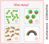 mathematics task. how many... | Shutterstock .eps vector #610846946