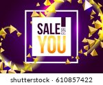 vector sale banner on abstract... | Shutterstock .eps vector #610857422