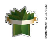 green ecology label icon vector ... | Shutterstock .eps vector #610878932