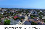 Small photo of Aerial view of residential area in Corona del Mar, Orange County, California