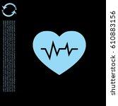 heartbeat vector icon.  | Shutterstock .eps vector #610883156