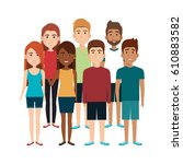 young people avatars group | Shutterstock .eps vector #610883582