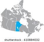 map canada vector | Shutterstock .eps vector #610884032