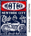 Motorcycle Poster Tee Graphic