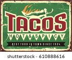 vector retro sign template for... | Shutterstock .eps vector #610888616